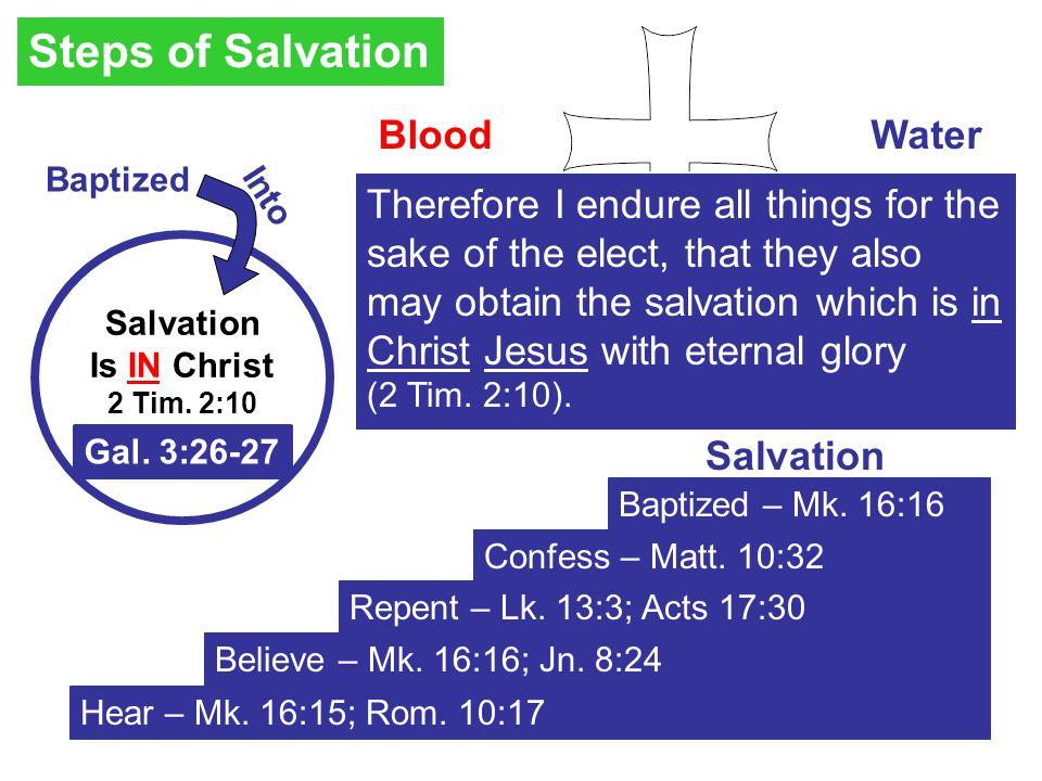 Hear – Mk. 16:15; Rom. 10:17 Believe – Mk. 16:16; Jn.