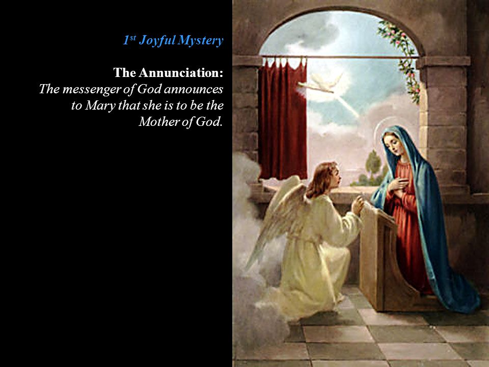 2 nd Joyful Mystery The Visitation: Mary visits and helps her cousin Elizabeth.