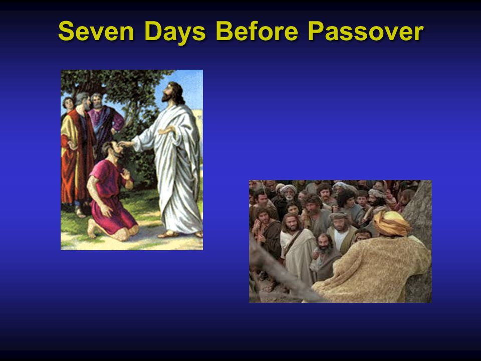 Seven Days Before Passover