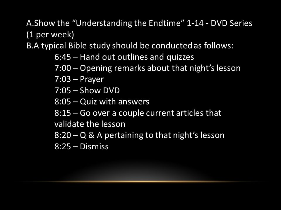 Step 3: Conversion The last lesson of the Understanding the Endtime course deals with the Kingdom of God.
