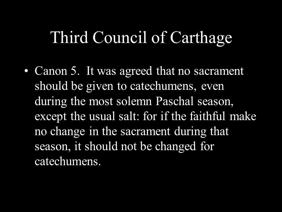 Third Council of Carthage Canon 5.