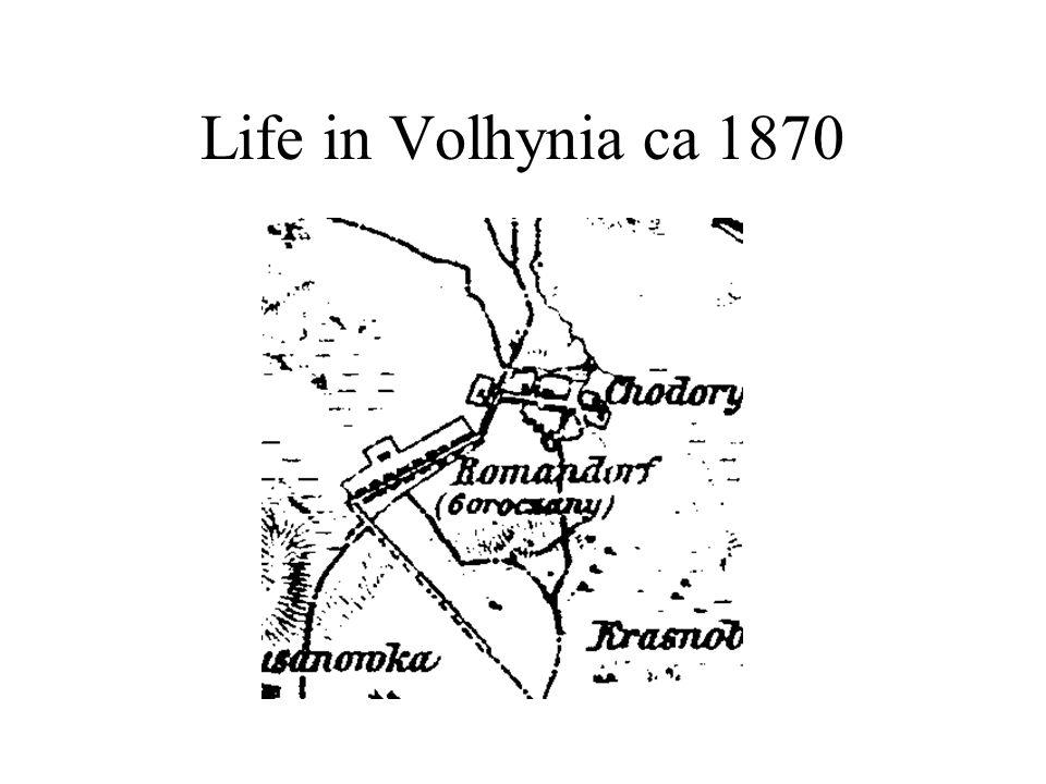 Life in Volhynia ca 1870