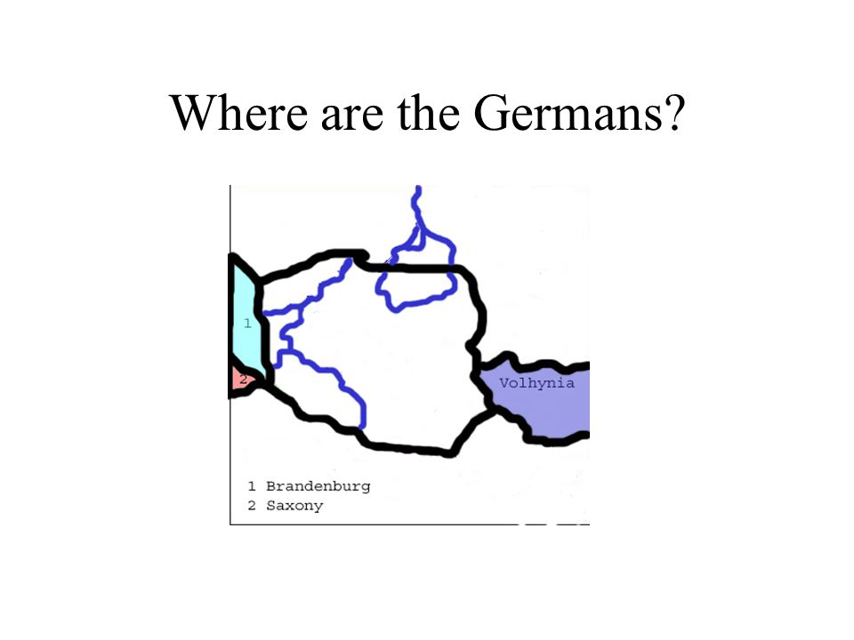 Where are the Germans?