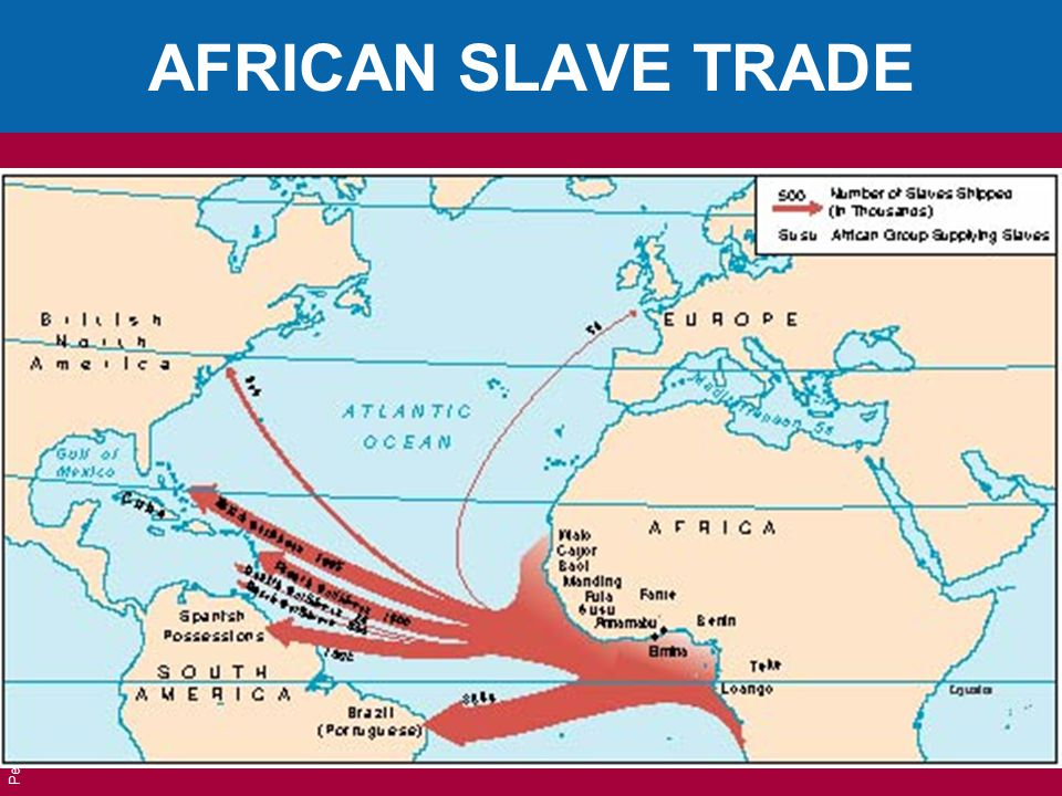 Pearson Education, Inc. © 2006 AFRICAN SLAVE TRADE