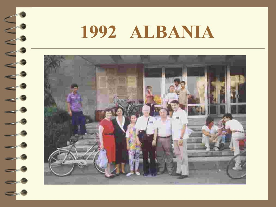 HISTORY HISTORY OF THE ALBANIAN WORK In July 1992, soon after the fall of communism, God opened the door to Albania, and a group of twenty-six teacher