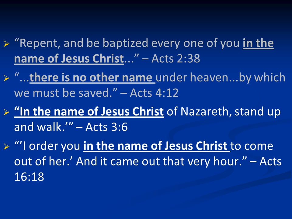   Importance of names   Bearing God's name Belonging Image-bearing Representing   His glory, not ours   His rules, values and priorities, not ours   His authority, not ours   How do we bear God's name?