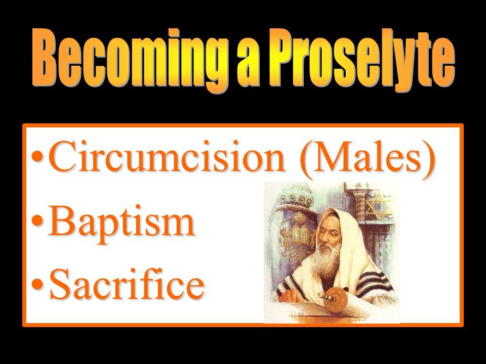 Circumcision (Males)Circumcision (Males) BaptismBaptism SacrificeSacrifice