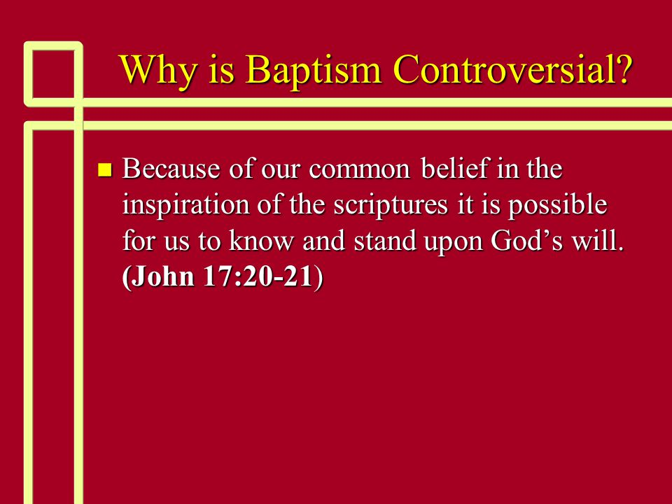Denominational Baptism almost always has the wrong purpose n {3} And he said to them, Into what then were you baptized? So they said, Into John's baptism. {4} Then Paul said, John indeed baptized with a baptism of repentance, saying to the people that they should believe on Him who would come after him, that is, on Christ Jesus. {5} When they heard this, they were baptized in the name of the Lord Jesus.
