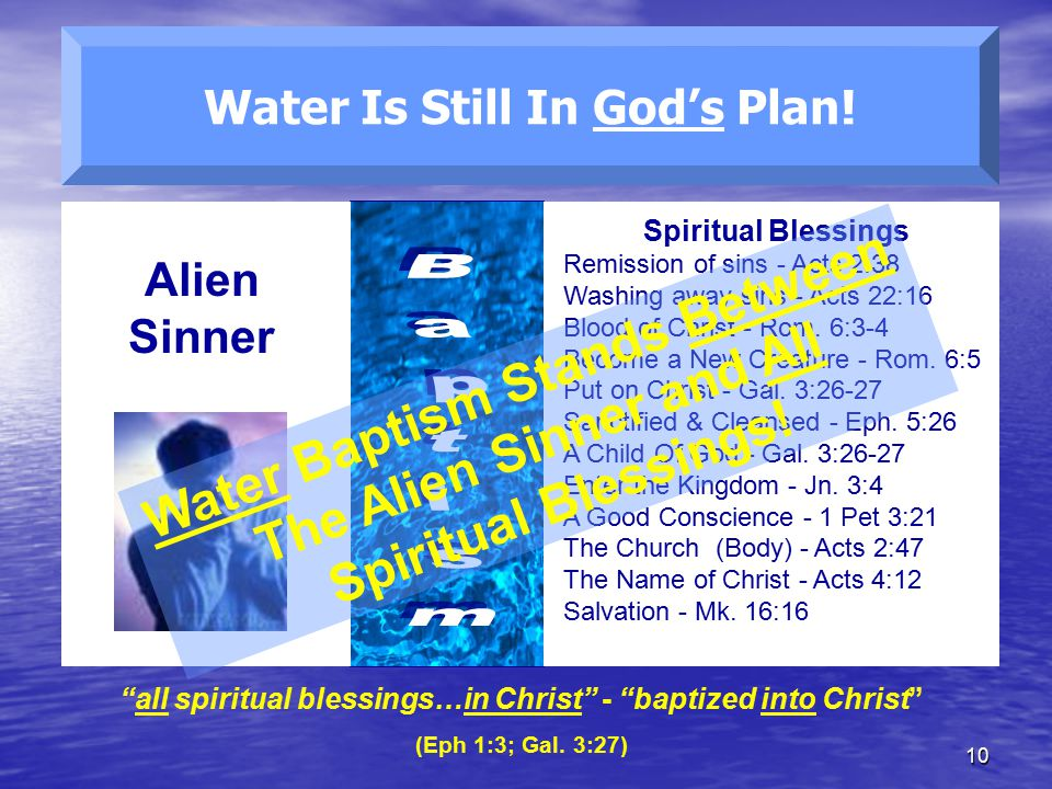 10 Water Is Still In God's Plan.