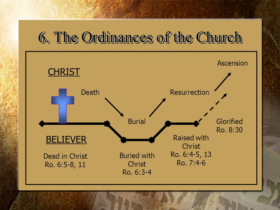 6. The Ordinances of the Church CHRIST Death Dead in Christ Ro.