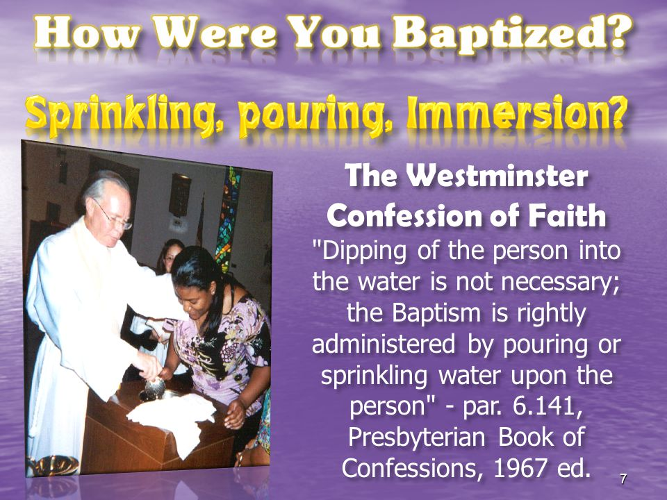 A Catechism for Adults (Catholic), How is baptism given.