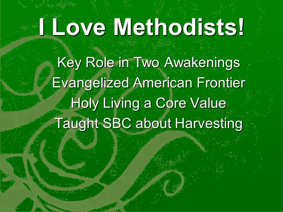 3.More Importantly Southern Baptists are Becoming the New Methodists