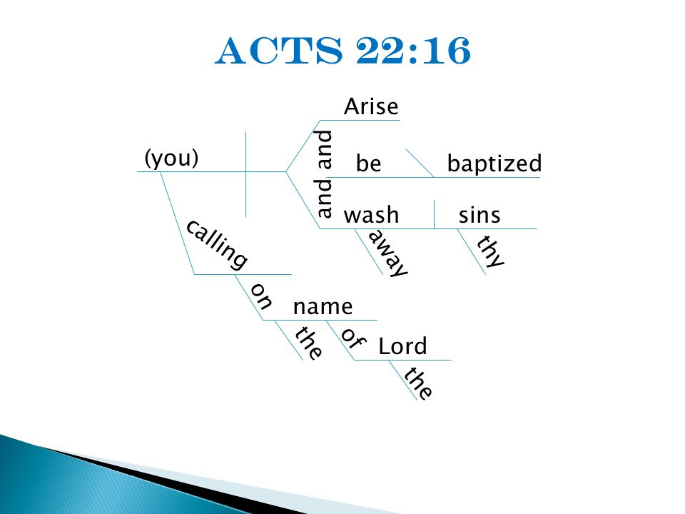 (you) calling Arise and wash away bebaptized sins thy on name of Lord the Acts 22:16