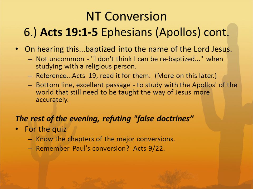 NT Conversion Refuting False Doctrines Asking a lot more diligence and a lot more preciseness.
