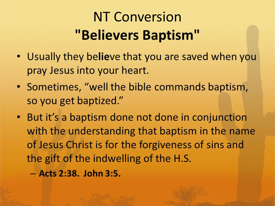 NT Conversion Conclusion These are most of the arguments you will find against true NT conversions.