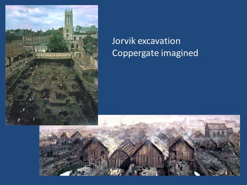 Jorvik excavation Coppergate imagined