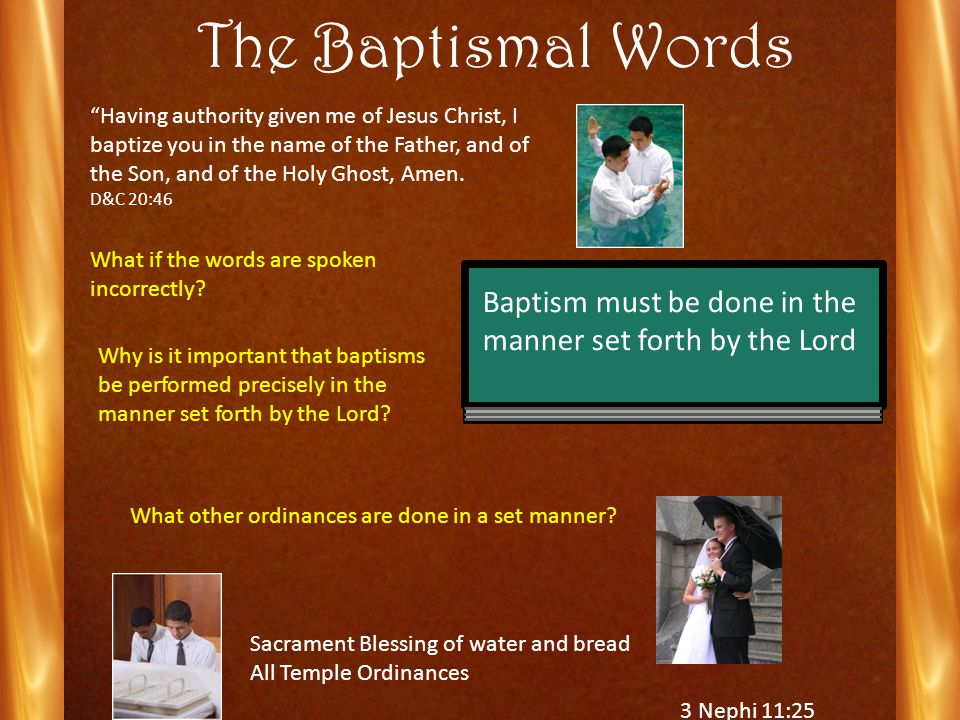 BatismRebaptism There is nothing strange in the fact that when the Lord came to the Nephites, Nephi was baptized and so was everybody else although they had been baptized before.