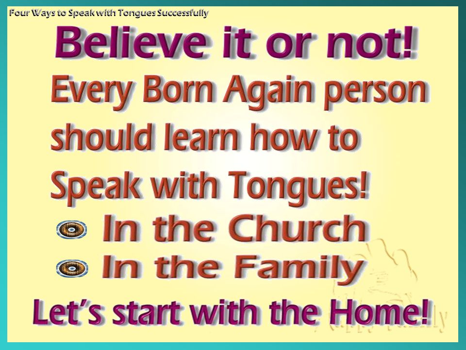 The phenomenon in Christian churches today is not really Pentecostal.