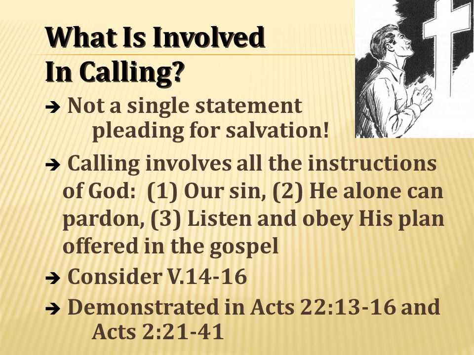 What Is Involved In Calling. What Is Involved In Calling.