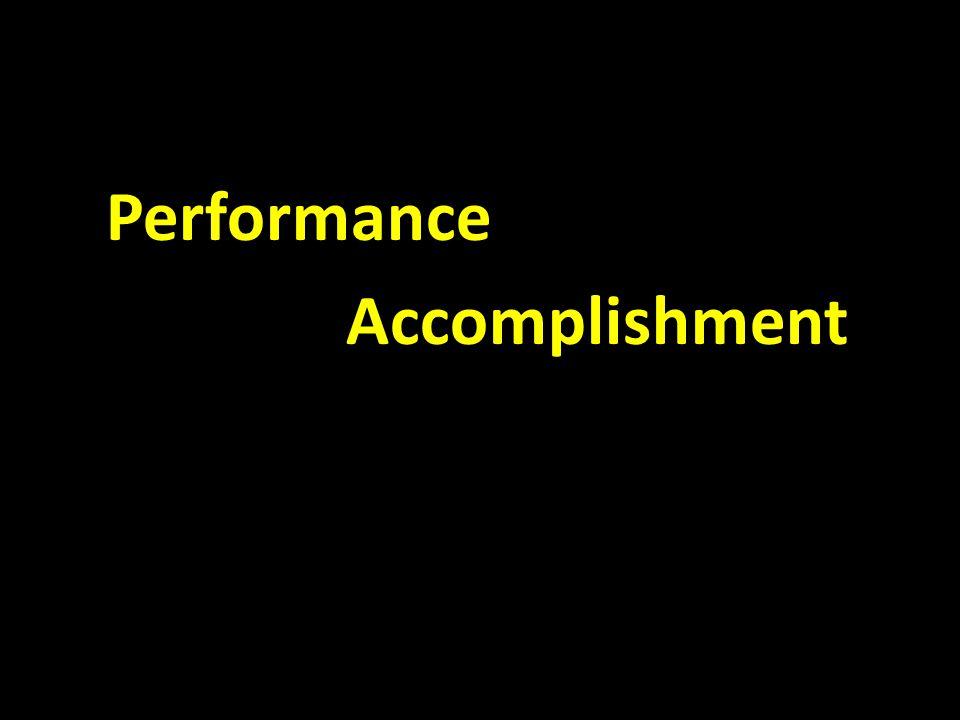 Performance Accomplishment