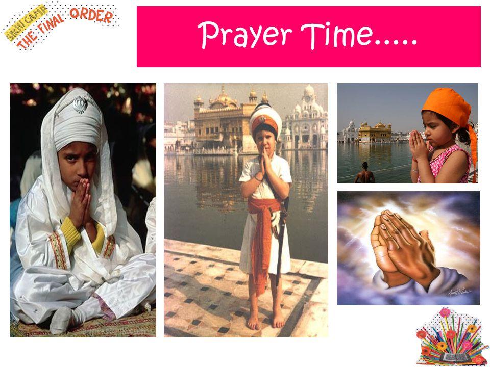 Prayer Time.....