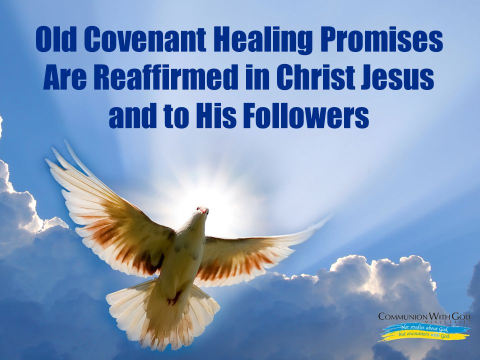 LOGO Old Covenant Healing Promises Are Reaffirmed in Christ Jesus and to His Followers
