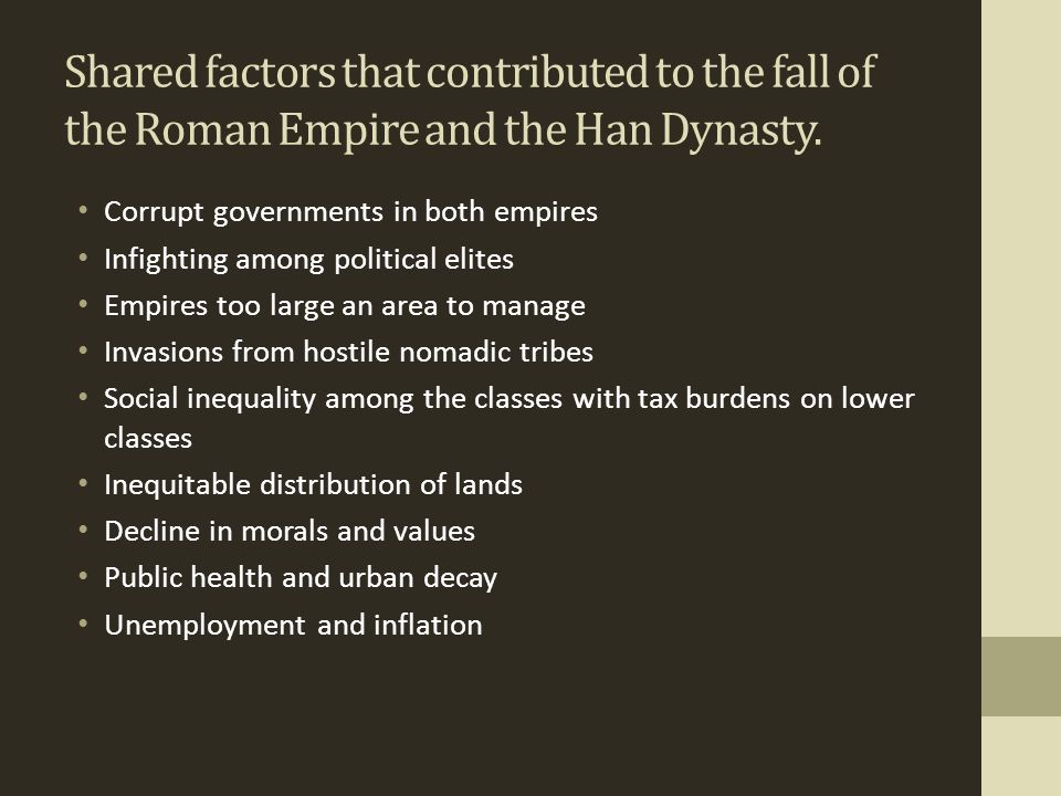 what economic reasons led to the fall of the han dynasty