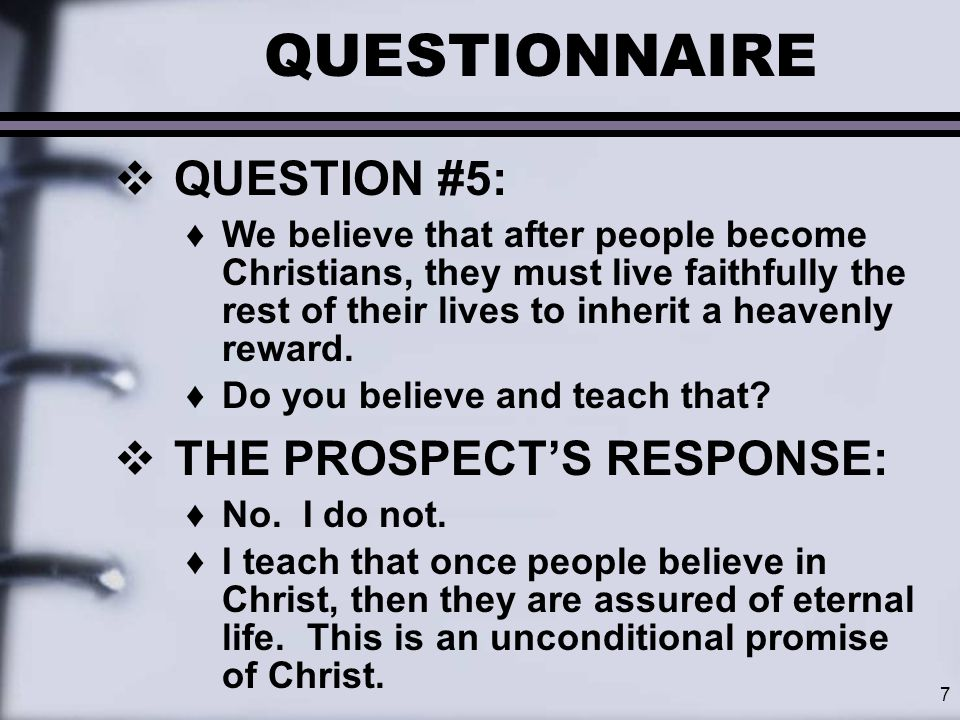 8 QUESTIONNAIRE  What do you think of this teacher.