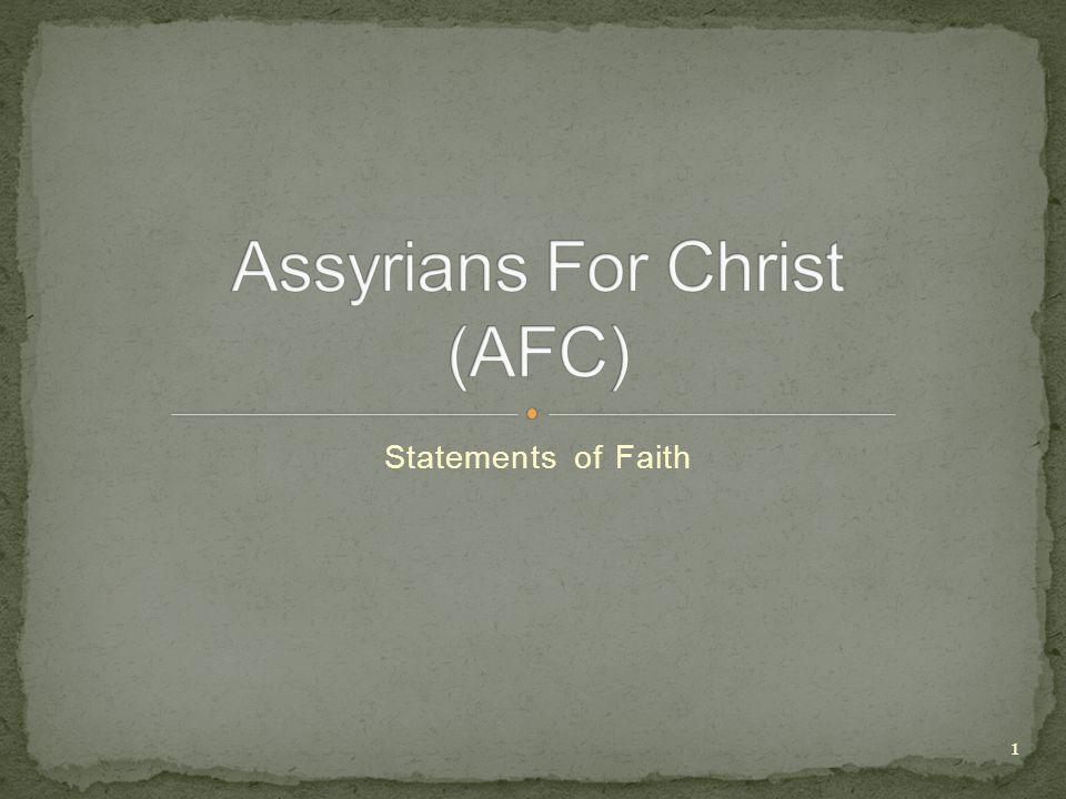 Statements of Faith 1