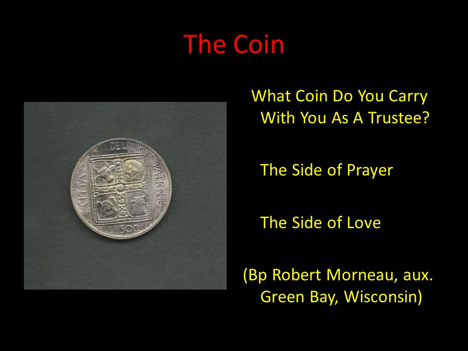 The Coin What Coin Do You Carry With You As A Trustee.