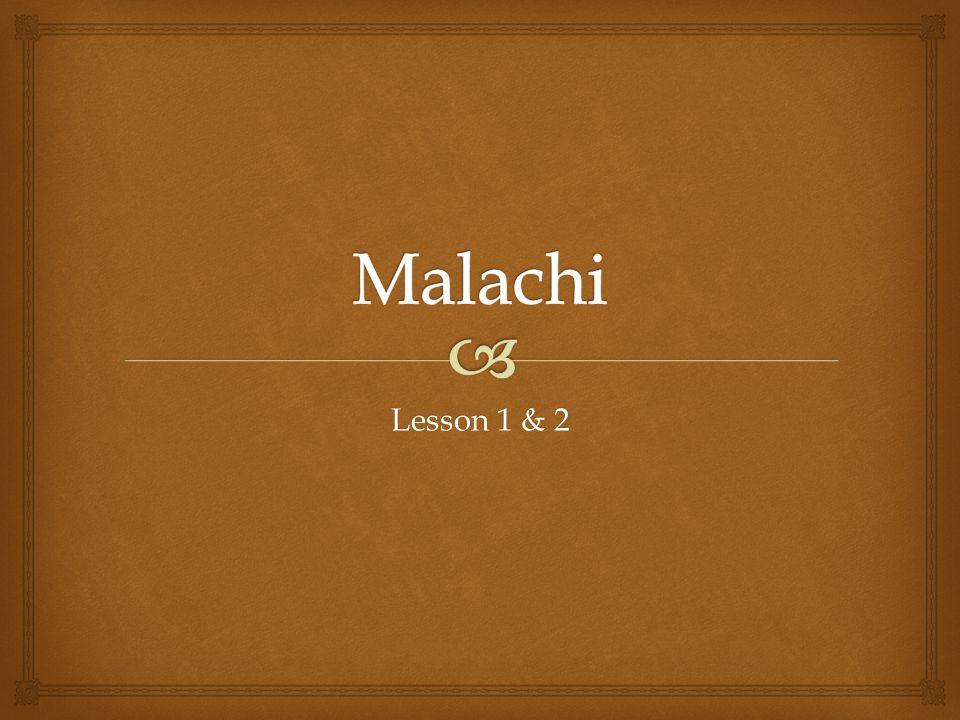 Lesson 1 & 2