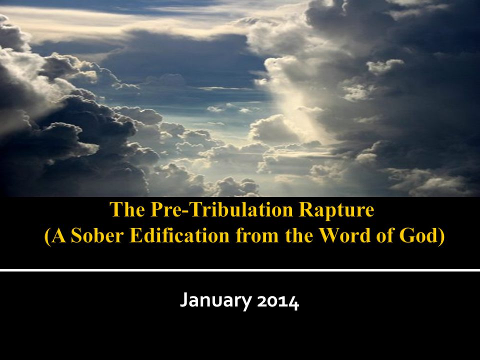 *Where did the word Rapture come from.*Does God say the saints will not suffer tribulation.