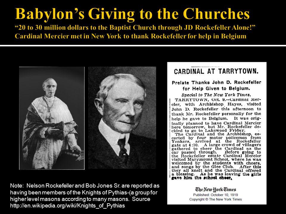Note: Nelson Rockefeller and Bob Jones Sr.