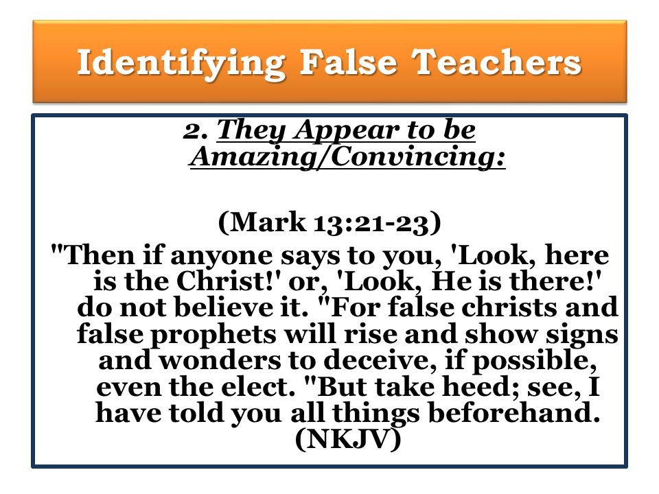 Identifying False Teachers 3.