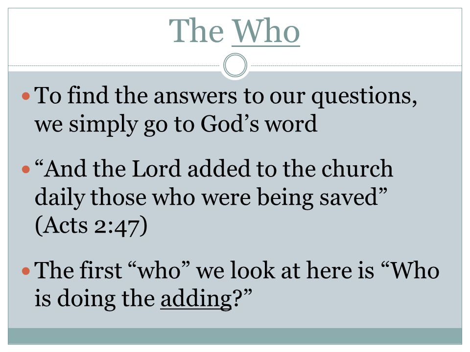 The How How do we obey the gospel.