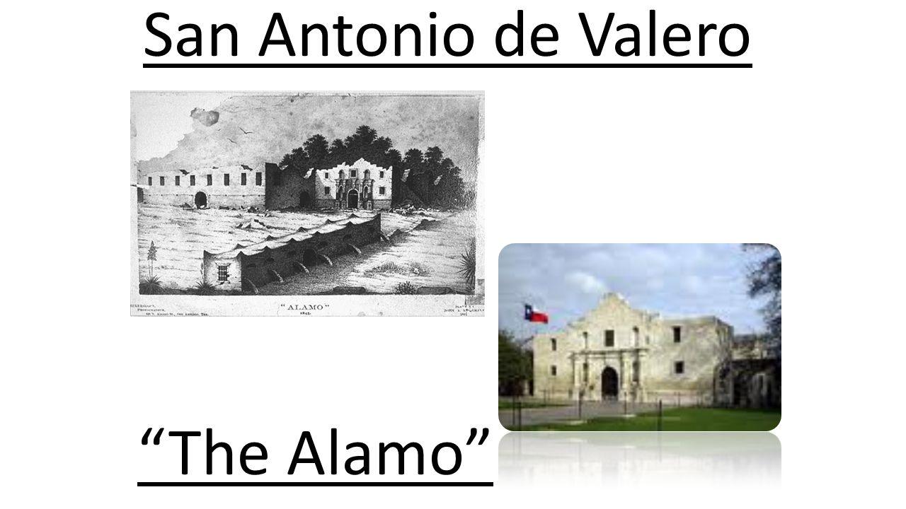 San Antonio Settlement - Mission = San Antonio de Valero - Presidio = San Antonio de Bexar - Civil Settlement = La Villa de Bexar - Together, these wo