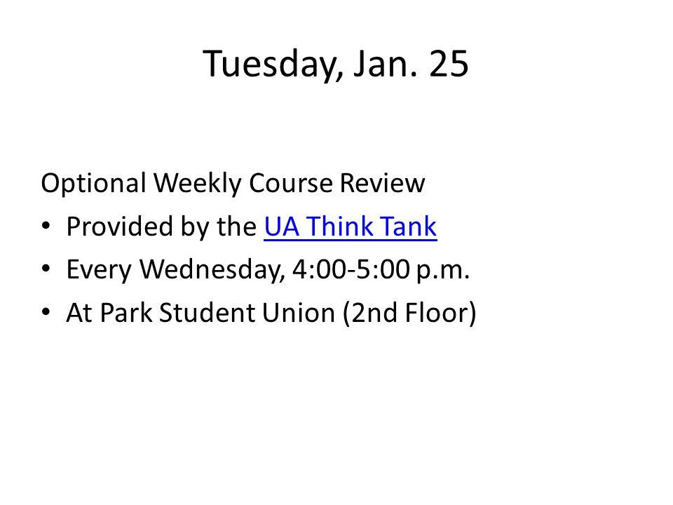 Tuesday, Jan.