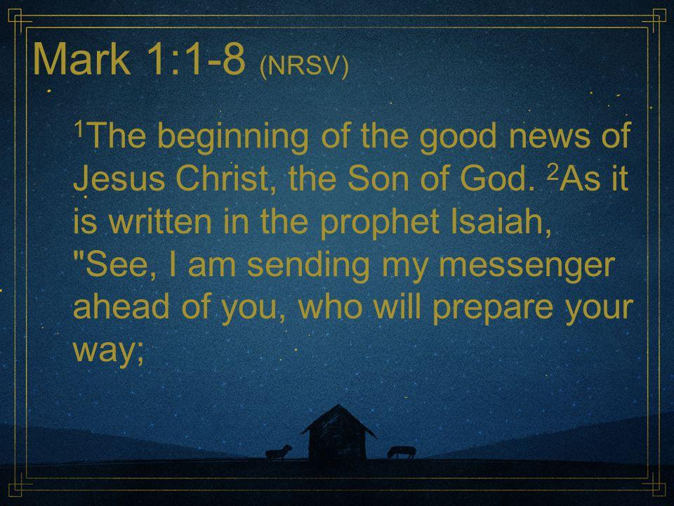The Need So where is John? Bringing hope Bringing repentance Bringing good news