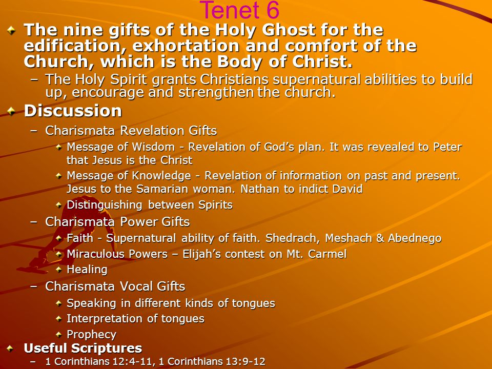 The baptism of the Holy Ghost for believers, with signs following. –God intends all Christians to know a definite experience of the presence and power