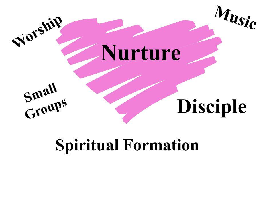 Nurture Worship Spiritual Formation Music Small Groups Disciple