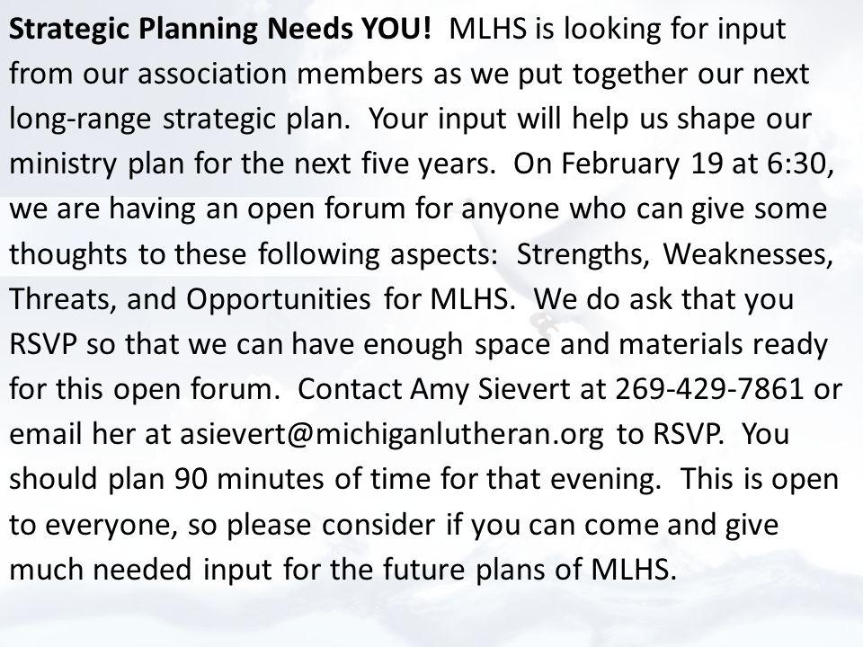 Strategic Planning Needs YOU.