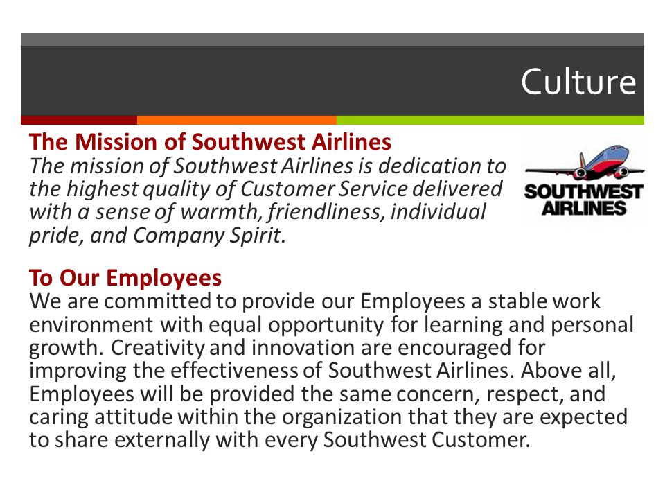 culture within organizations southwest airlines