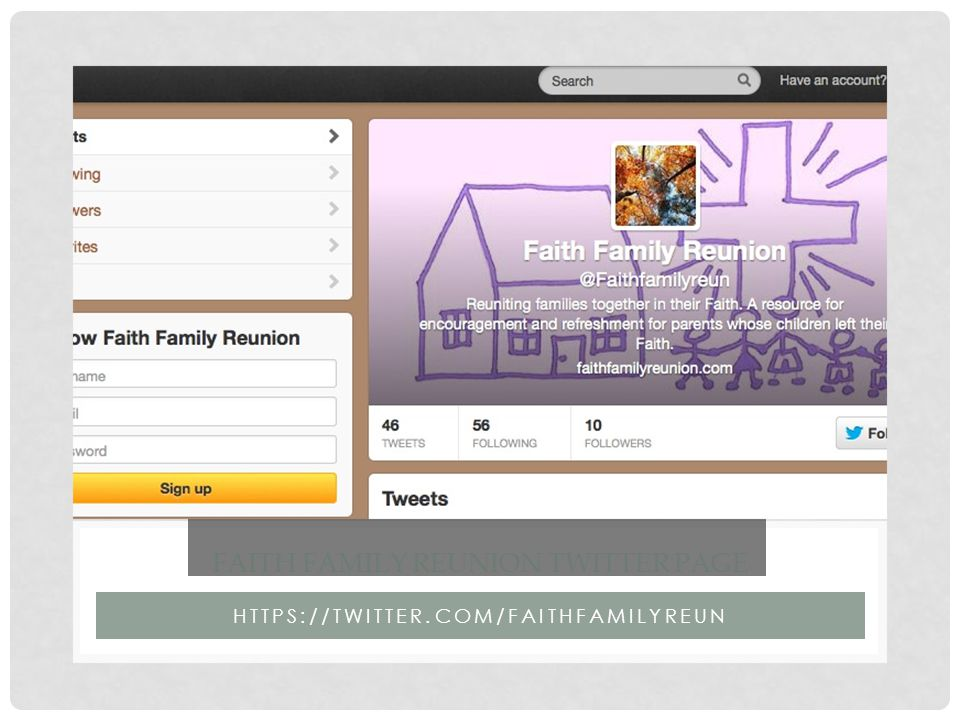 WWW.FAITHFAMILYREUNION.COM FAITH FAMILY REUNION WEBSITE