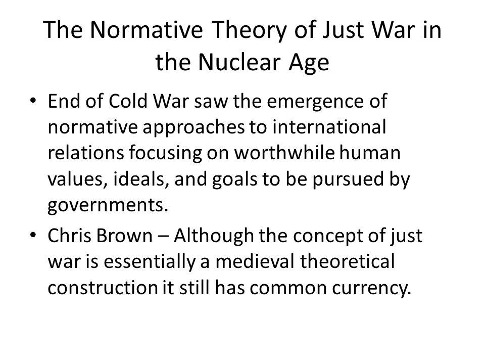 Just war idea central to modern international law.