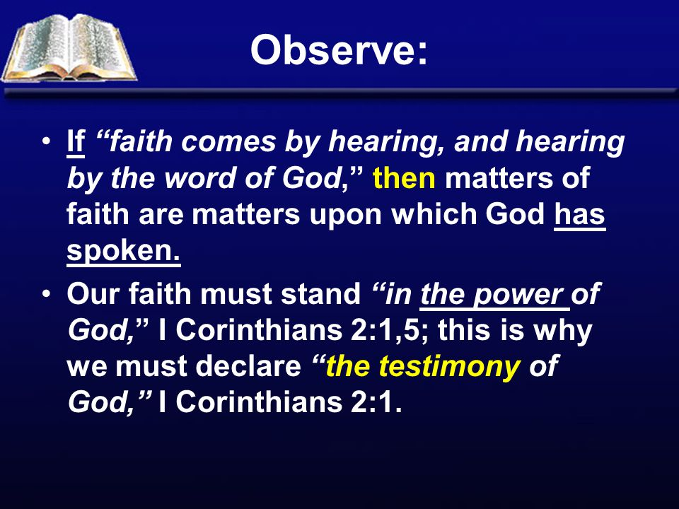 The Value of Faith – Evidenced by what it Does.Faith is essential to answered prayer, James 1:6.