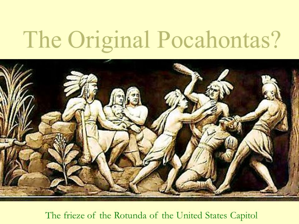 The Original Pocahontas? The frieze of the Rotunda of the United States Capitol