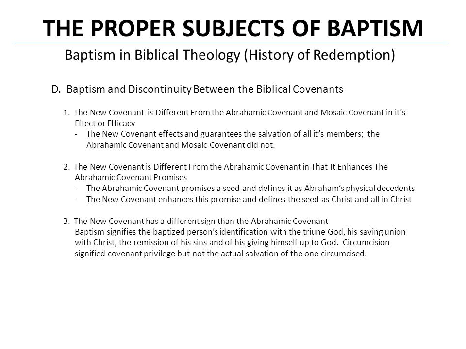 Conclusion Who should be baptized.
