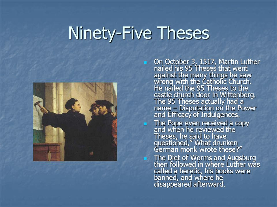 The Final Acts Luther was the first to translate the Bible in German.