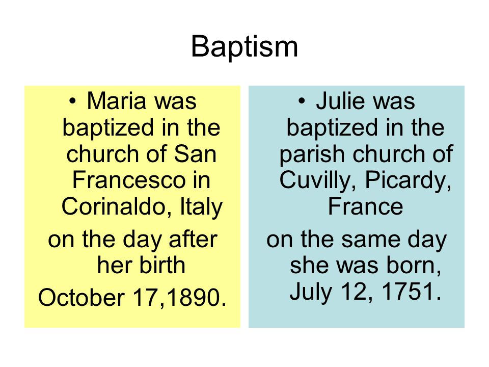 Sainthood Maria is declared a saint in St.Peter's Square by Pope Pius XII on June 14, 1950.