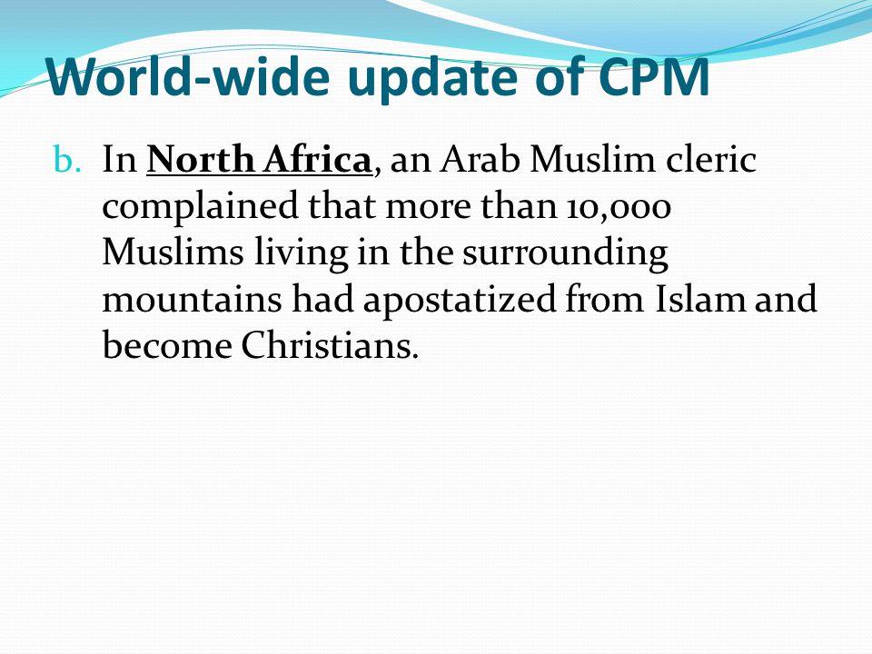 World-wide update of CPM b.
